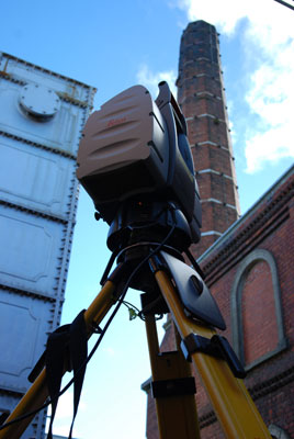 Leica 3D Laser Scanner with the Gasworks Chimney